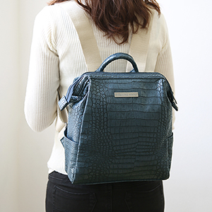 OFFICE LEATHER WIRE BACKPACK MINI