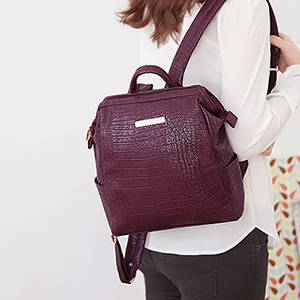 OFFICE LEATHER WIRE BACKPACK MINI_BASIC